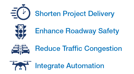 Shorten Project Delivery, Enhance Roadway Safety, Reduce Traffic Congestion, and Integrate Automation