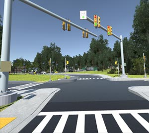image of cgi virtual crosswalk