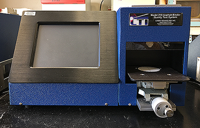 A picture of an Asphalt Binder Quality Tester (ABQT) that is used at the Binder Laboratory.