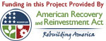 A badge representing the American Recovery and Reinvestment Act.