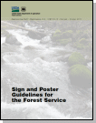 An image of a sign and poster guidelines pamphlet cover.
