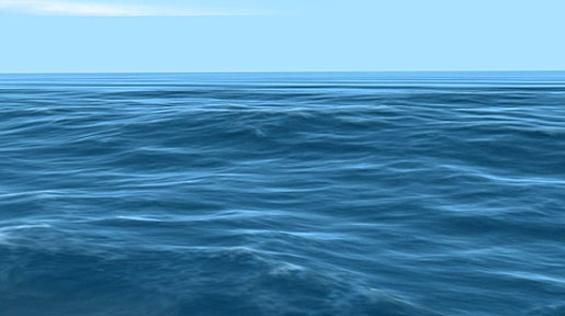 This is an image of wavy blue waters.