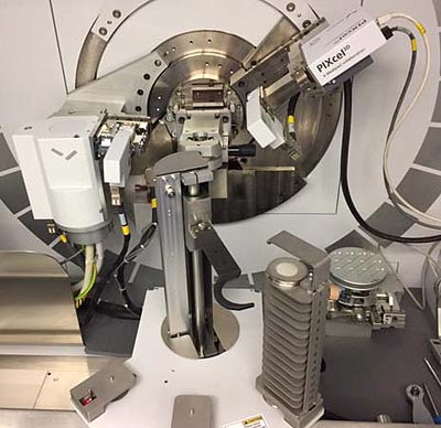 Figure 5. X-ray diffractometer performing quantitative powder diffraction analysis of fly ash and other supplementary cementitious materials.