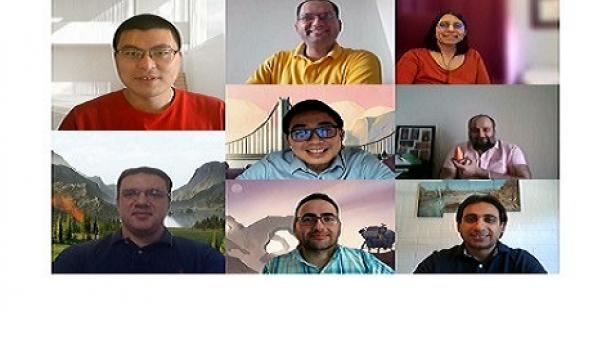 Photo of group of NRC Research Associates on a video call.