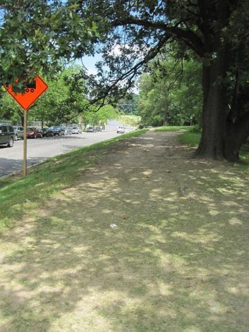 Project area view – sidewalk will be constructed on the existing shoulder